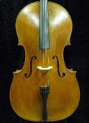 Images of a 2007 William Hu & Snow full size Chinese cello. Images show the front, back, scrolls, and label of this cello. The cello is fully carved and has lovely wood on the front and back.