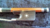 "Brazilian 4/4 Marco Raposo ""Luciano"" Nickel Mounted Cello Bow"